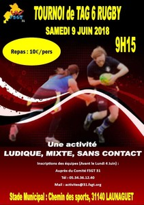 TOURNOI TAG RUGBY Image 1